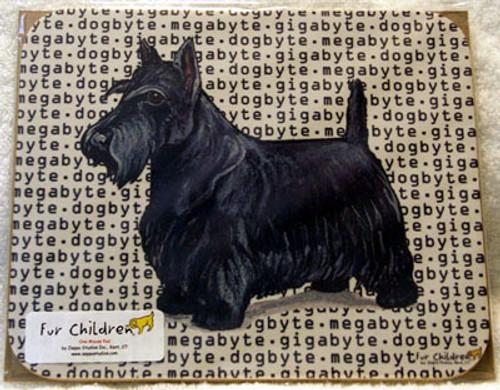 Fur Children Megabyte, Gigabyte, Dog Byte Mouse Pad - Scottish Terrier (MPMGDB122)
