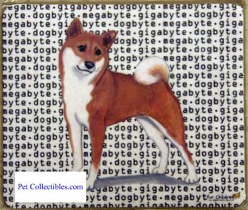 Fur Children Megabyte, Gigabyte, Dog Byte Mouse Pad - Shiba Inu (ZE-MPMGDB125)