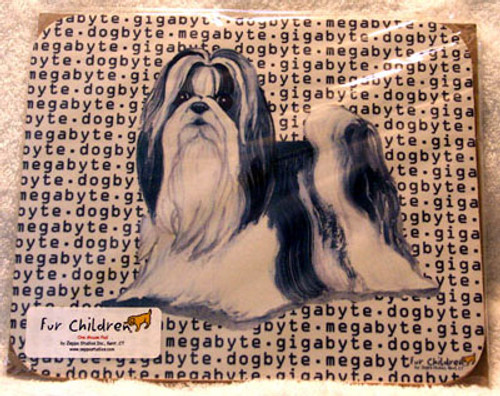 Fur Children Megabyte, Gigabyte, Dog Byte Mouse Pad - Shih Tzu (MPMGDB126)