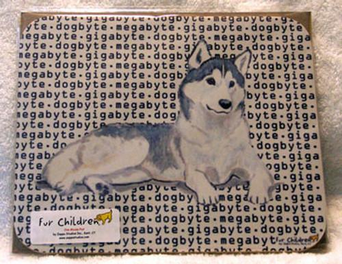 Fur Children Megabyte, Gigabyte, Dog Byte Mouse Pad - Siberian Husky (MPMGDB128)