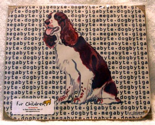 Fur Children Megabyte, Gigabyte, Dog Byte Mouse Pad - Springer Spaniel (MPMGDB133)