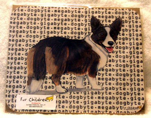Fur Children Megabyte, Gigabyte, Dog Byte Mouse Pad - Cardigan Welsh Corgi (MPMGDB139)