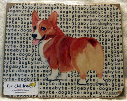ur Children Megabyte, Gigabyte, Dog Byte Mouse Pad - Pembroke Welsh Corgi (MPMGDB141)
