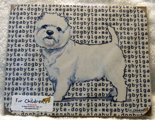 Fur Children Megabyte, Gigabyte, Dog Byte Mouse Pad - Westie (MPMGDB144)