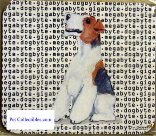Fur Children Megabyte, Gigabyte, Dog Byte Mouse Pad - Wire Fox Terrier (MPMGDB147)