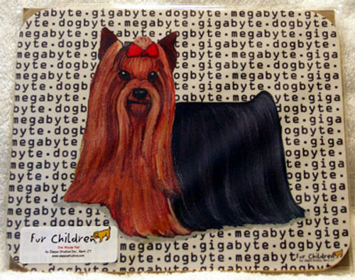 ur Children Megabyte, Gigabyte, Dog Byte Mouse Pad - Yorkshire Terrier (Yorkie) (MPMGDB148)