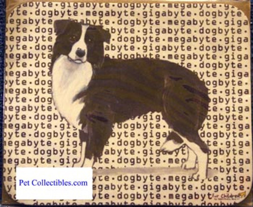 Fur Children Megabyte, Gigabyte, Dog Byte Mouse Pad - Border Collie (MPMGDB21)