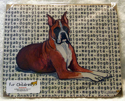 Fur Children Megabyte, Gigabyte, Dog Byte Mouse Pad - Boxer Fur Children (MPMGDB26)