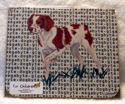 Fur Children Megabyte, Gigabyte, Dog Byte Mouse Pad - Brittany Spaniel (MPMGDB30)
