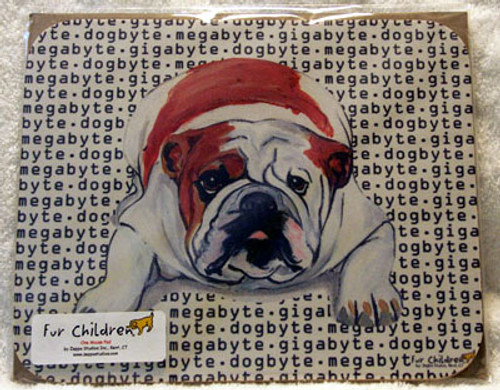 Fur Children Megabyte, Gigabyte, Dog Byte Mouse Pad - Bulldog (MPMGDB32)