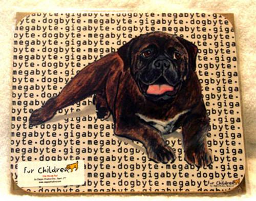 Fur Children Megabyte, Gigabyte, Dog Byte Mouse Pad - Bullmastiff (MPMGDB33)