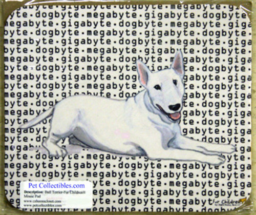 Fur Children Megabyte, Gigabyte, Dog Byte Mouse Pad - Bull Terrier (MPMGDB34)