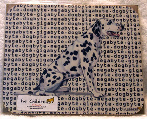Fur Children Megabyte, Gigabyte, Dog Byte Mouse Pad - Dalmatian (MPMGDB52)