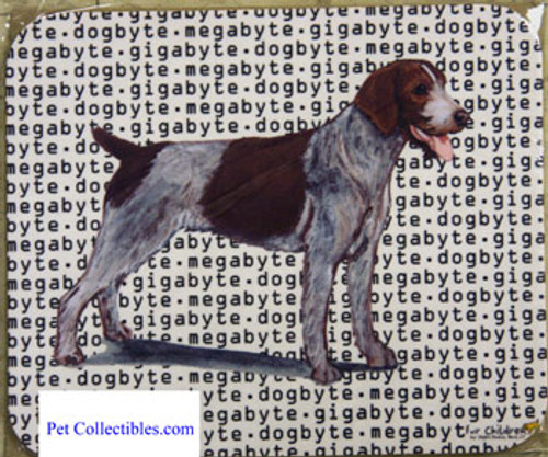 Fur Children Megabyte, Gigabyte, Dog Byte Mouse Pad - German Wirehaired Pointer (MPMGDB63)