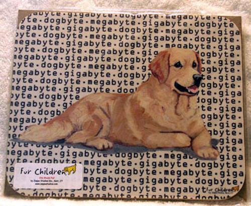 Fur Children Megabyte, Gigabyte, Dog Byte Mouse Pad - Golden Retriever (MPMGDB65)