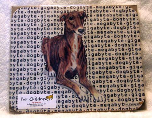 Fur Children Megabyte, Gigabyte, Dog Byte Mouse Pad - Greyhound (MPMGDB72)
