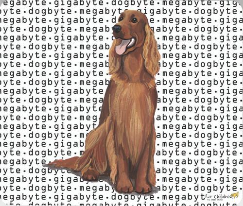 Fur Children Megabyte, Gigabyte, Dog Byte Mouse Pad - Irish Setter (MPMGDB74)