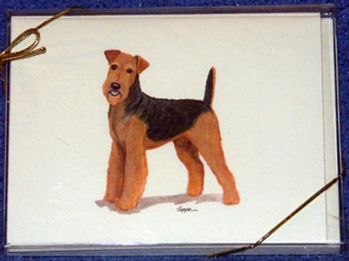 Fur Children Blank Note Cards - Airedale Terrier (NC040502)