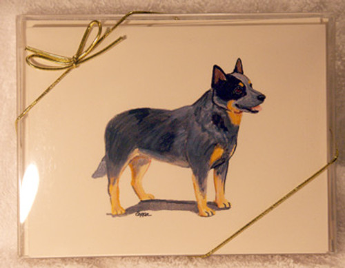 Fur Children Blank Note Cards - Australian Cattledog (NC040509)