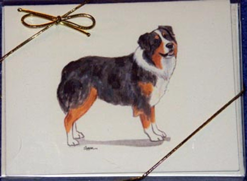 Fur Children Blank Note Cards - Australian Shepherd (NC040510)