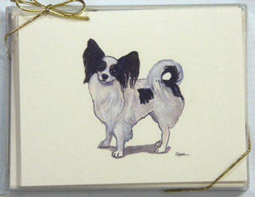 Fur Children Blank Note Cards - Papillon (NC0405103)