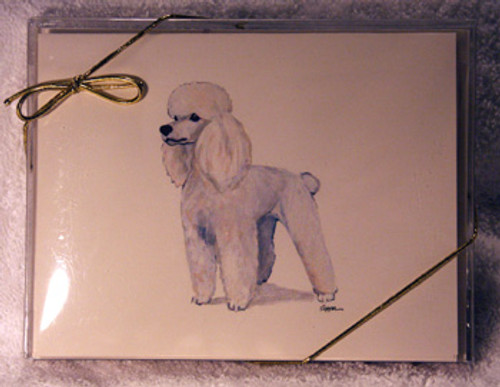 Fur Children Blank Note Cards - Poodle (White) (NC0405109)