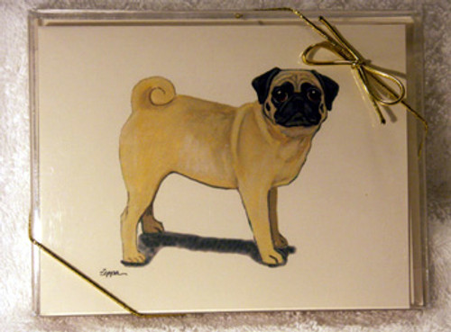 Fur Children Blank Note Cards - Pug (Fawn) (NC0405112)