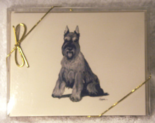 Fur Children Blank Note Cards - Schnauzer (NC0405121)