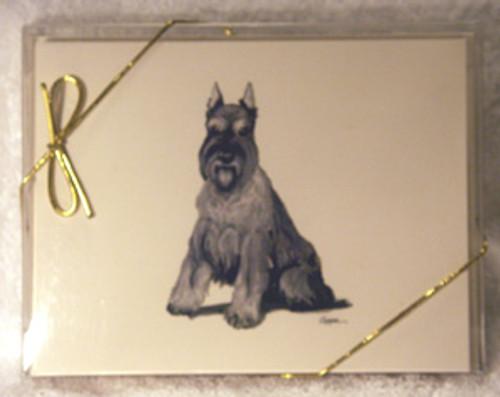 Fur Children Blank Note Cards - Schnauzer (NC0405121)