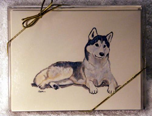 Fur Children Blank Note Cards - Siberian Husky (NC0405128)