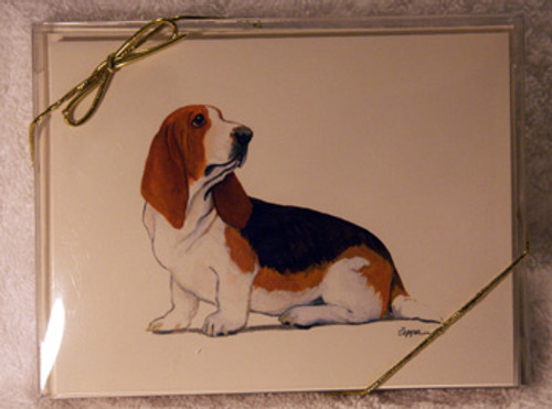 Fur Children Blank Note Cards - Basset Hound (NC040513)