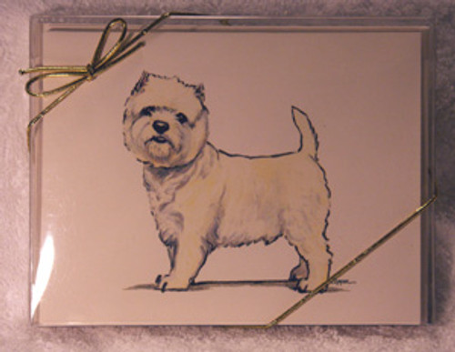 Fur Children Blank Note Cards - West Highland Terrier (Westie) (NC0405144)