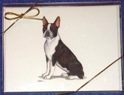 Fur Children Blank Note Cards - Boston Terrier (NC040524)