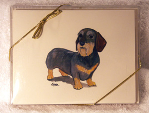 Fur Children Blank Note Cards - Wirehaired Dachshund (NC040551)