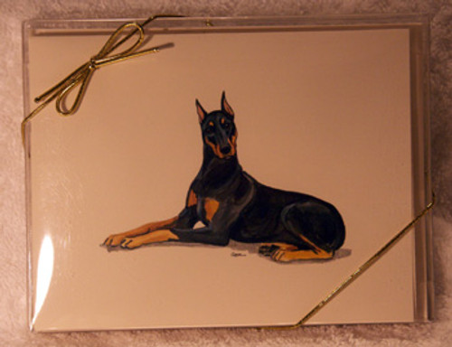 Fur Children Blank Note Cards - Doberman (NC040555)