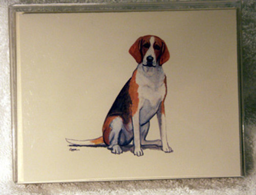 Fur Children Blank Note Cards - English Foxhound (NC040559)