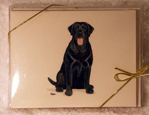 Fur Children Blank Note Cards - Black Labrador Retriever (NC040585)