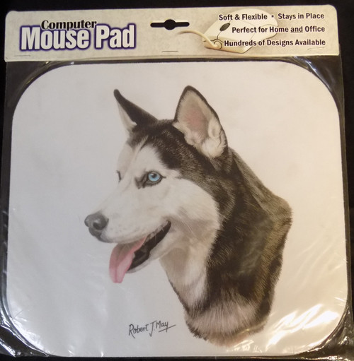 Mouse Pad Designs by Robert May - Siberian Husky (RMP17A)