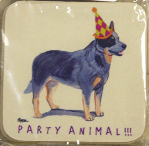 Fur Children Party Animal Coasters - Australian Cattledog (PC040409)