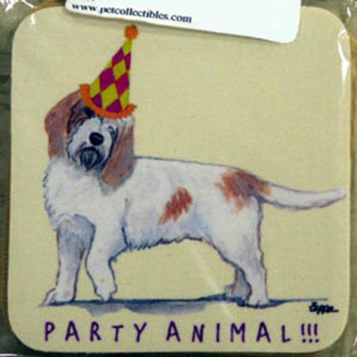 Fur Children Party Animal Coasters - Petit Basset Grifon Vendeen (PBGV) (PC0404105)