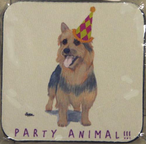 Fur Children Party Animal Coasters - Australian Terrier (PC040411)