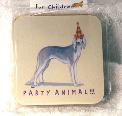 Fur Children Party Animal Coasters - Saluki (PC0404118)