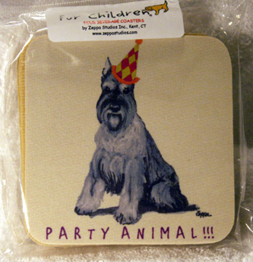 Fur Children Party Animal Coasters - Schnauzer (PC0404121)