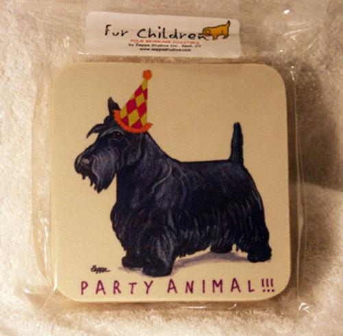 Fur Children Party Animal Coasters - Scottish Terrier (Scottie) (PC0404122)