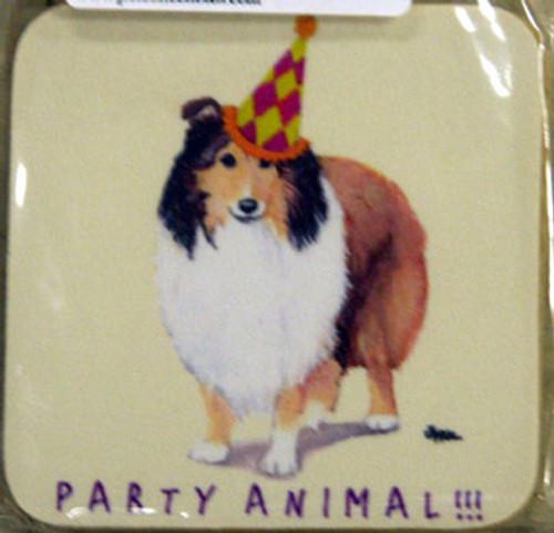 Fur Children Party Animal Coasters - Shetland Sheepdog (Sheltie) (PC0404124)