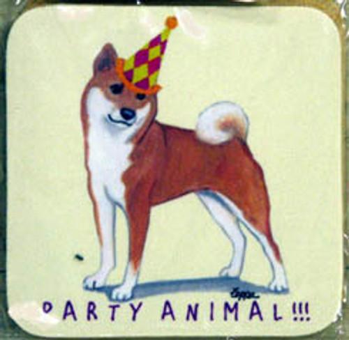 Fur Children Party Animal Coasters - Shiba Inu (PC0404125)