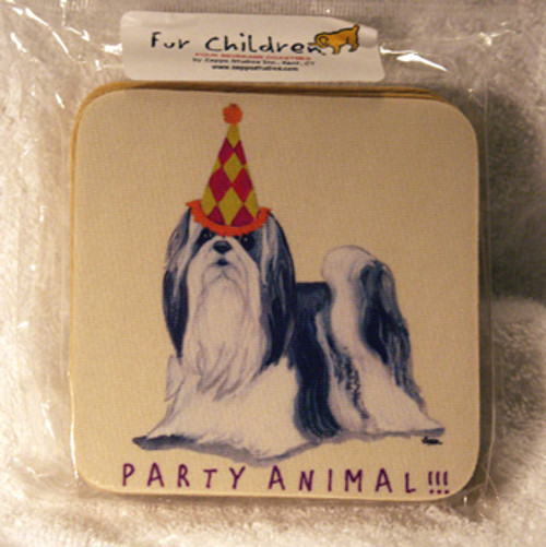 Fur Children Party Animal Coasters - Shih Tzu (PC0404126)