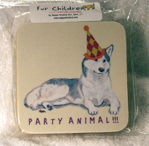Fur Children Party Animal Coasters - Siberian Husky (PC0404128)