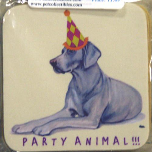 Fur Children Party Animal Coasters - Weimeraner (PC0404138)
