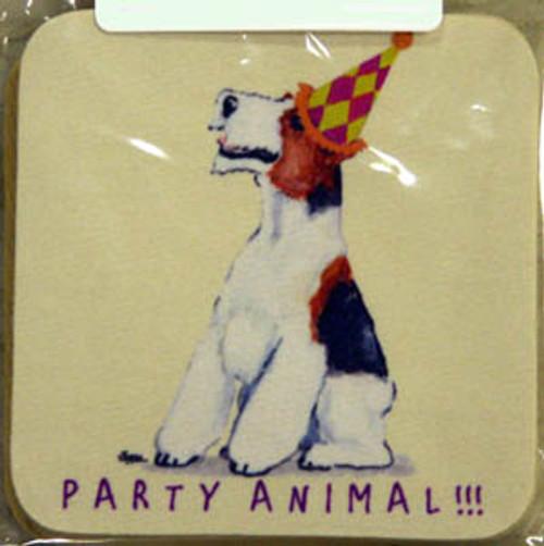 Fur Children Party Animal Coasters - Wire Fox Terrier (PC0404147)